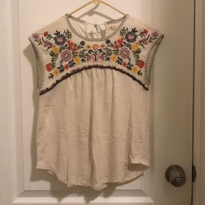Hollister Embroidered Yoke Top